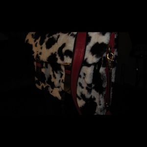 Handbags - A BLIZZY custom faux cow fur laptop case